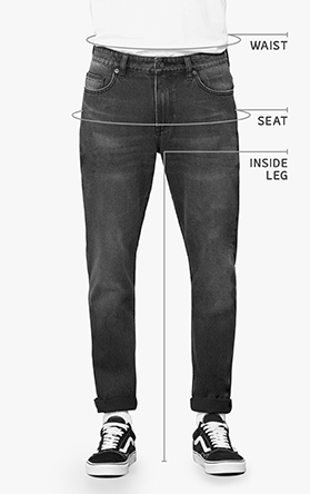 Men Denim Sizing