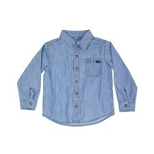 Image of Riders By Lee Retro Chambray THE ROLL-UP SHIRT // RETRO CHAMBRAY