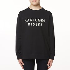 Image of Riders By Lee Black Coal THE CREW SWEAT RADICOOL // BLACK COAL