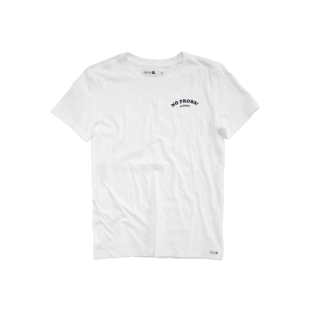 Image of Riders By Lee White THE SS TEE NO PROBS // WHITE