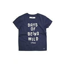 Image of Riders By Lee Indigo THE SS TEE BEING WILD // INDIGO