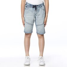 Image of Riders By Lee DUSTY INDIGO DENIM JOGGER SHORT DUSTY INDIGO