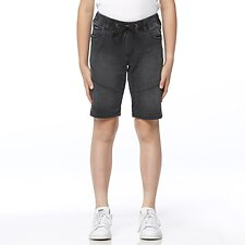 Image of Riders By Lee NERO DENIM JOGGER SHORT NERO