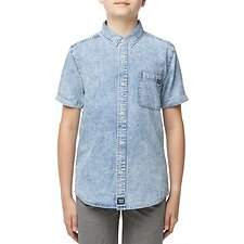 Image of Riders By Lee ACID CHAMBRAY SHORT SLEEVE SHIRT ACID CHAMBRAY
