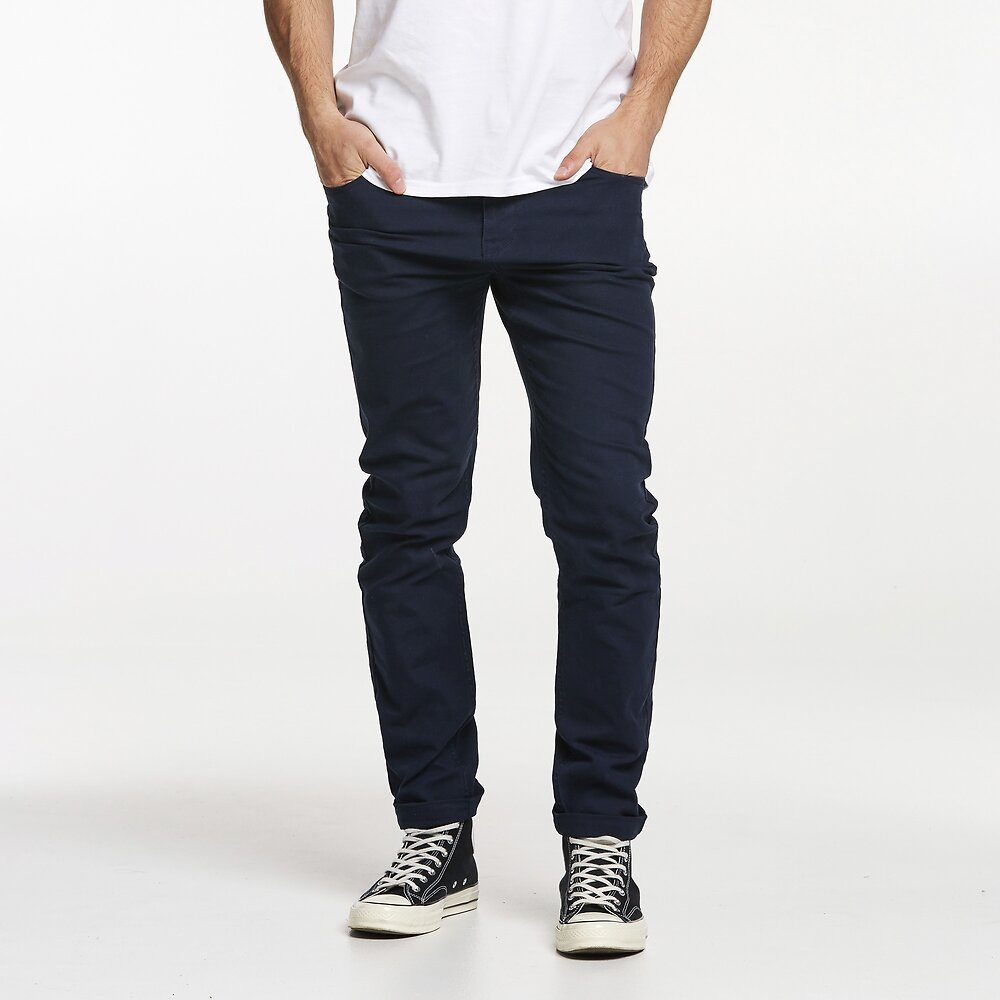 Image of Riders By Lee Navy R2 SLIM AND NARROW // CANVAS NAVY
