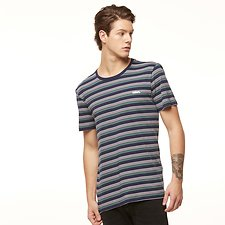Image of Riders By Lee Navy/Sage Stripe SIGNATURE TRADEMARK TEE // NAVY/SAGE STRIPE