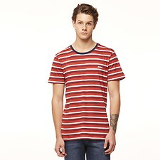 Image of Riders By Lee Red/Navy Stripe SIGNATURE TRADEMARK TEE // RED/NAVY STRIPE