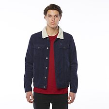 Image of Riders By Lee Navy CORDUROY SHERPA JACKET NAVY