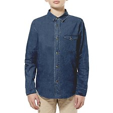 Image of Riders By Lee Washed Chambray LS SHIRT // WASHED CHAMBRAY