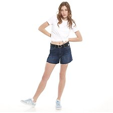 Picture of GIRLFRIEND SHORT // IMPRESSION BLUE