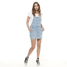 Picture of UTILITY DUNGAREE DRESS // BLUE CLIQUE