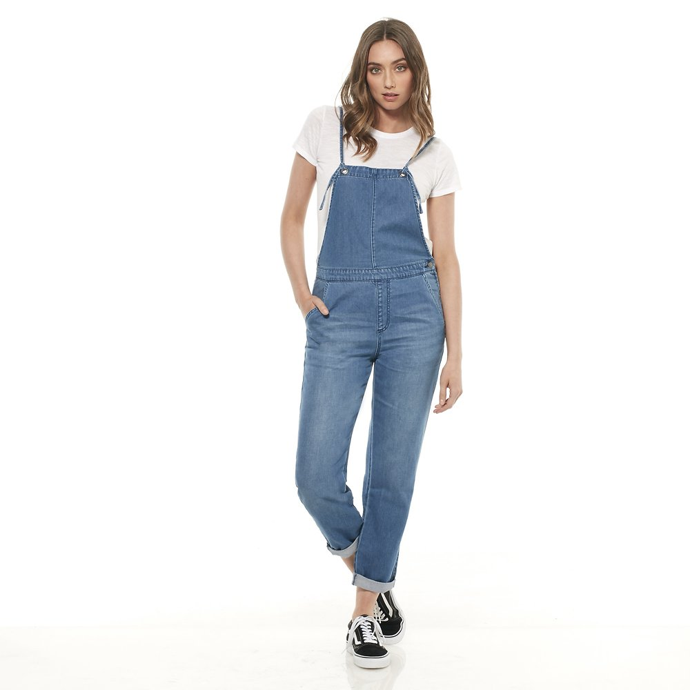 Image of Riders By Lee MISTAKEN BLUE THIN LINE DUNGAREE // MISTAKEN BLUE