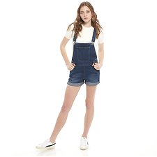 Picture of DUNGAREE SHORT // IMPRESSION BLUE