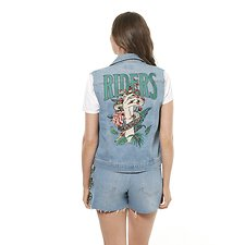 Image of Riders By Lee IVY BLUE CUT OFF TRUCKER // IVY BLUE