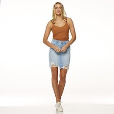 Image of Riders By Lee Exposed Blue HI RIDER SKIRT // EXPOSED BLUE