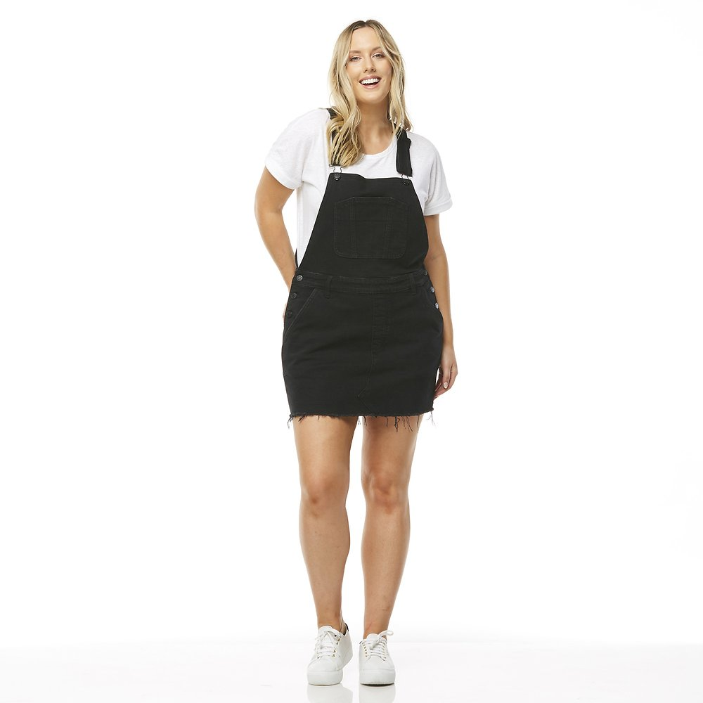 c57984bc5 Image of Riders By Lee Riot Black UTILITY DUNGAREE DRESS // RIOT BLACK