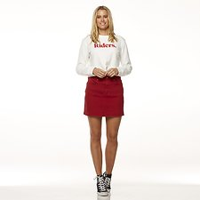 Image of Riders By Lee Reborn Red GIRLFRIEND SKIRT // REBORN RED