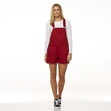 Image of Riders By Lee Reborn Red UTILITY DUNGAREE SHORT // REBORN RED