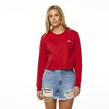 Image of Riders By Lee Pepper Red SIGNWRITER CROPPED FLEECE // PEPPER RED