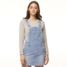 Image of Riders By Lee Blue Sapphire UTILITY DUNGAREE DRESS BLUE COVE