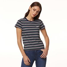 Image of Riders By Lee Navy/Sage Stripe SIGNATURE SLIM TEE // NAVY/SAGE STRIPE