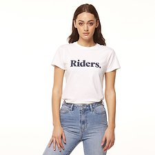 Image of Riders By Lee White/Navy IMPRINT SLIM TEE // WHITE/NAVY