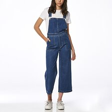 Image of Riders By Lee AUSTIN BLUE HI WIDE DUNGAREE AUSTIN BLUE