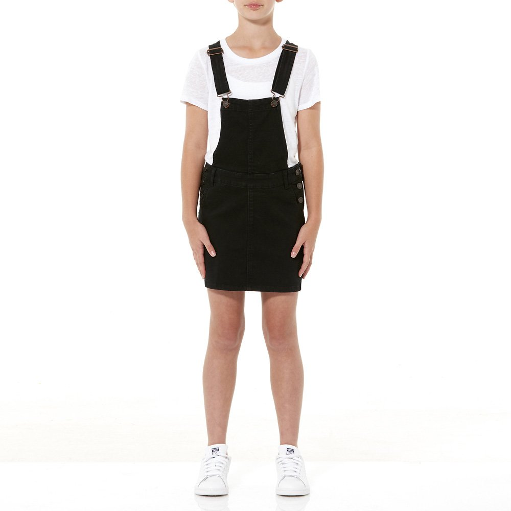 431cc17a2 Image of Riders By Lee Black DUNGAREE DRESS BLACK