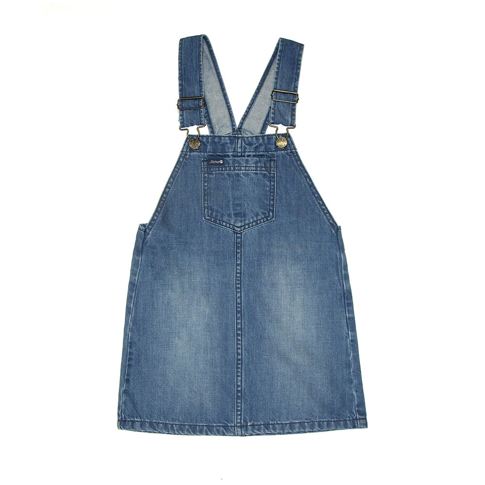 Image of Riders By Lee Rainy Day Blue DUNGAREE DRESS // RAINY DAY BLUE