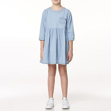 Image of Riders By Lee Blue Chambray BABYDOLL DRESS // BLUE CHAMBRAY