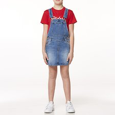 Image of Riders By Lee Heritage Blue UTILITY DUNGAREE DRESS // HERITAGE BLUE