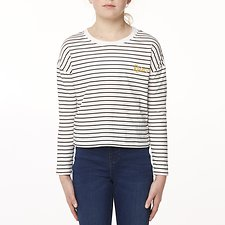 Image of Riders By Lee Breton Stripe THE CROP LS TEE // BRETON STRIPE