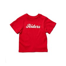 Image of Riders By Lee Dark Red THE CLASSIC TEE CURSIVE RIDERS // DARK RED